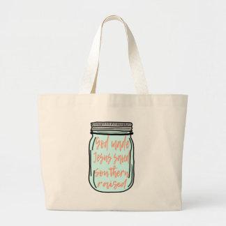 Southern Raised Mason Jar Large Tote Bag