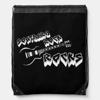 Southern rock music drawstring bag