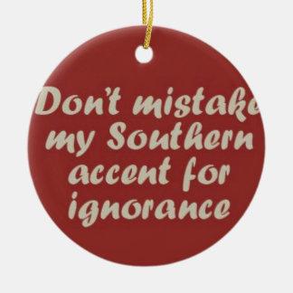 Southern Sayings Ceramic Ornament