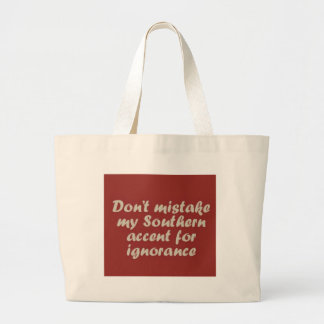 Southern Sayings Large Tote Bag