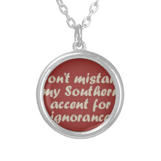 Southern Sayings Silver Plated Necklace