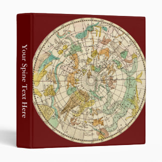 Southern Sky Star Chart and Constellations Map Vinyl Binder