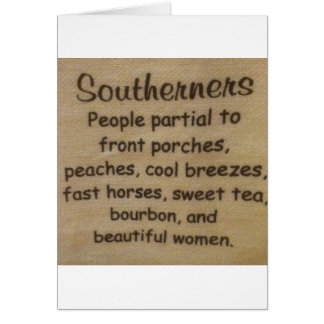 Southern slang card