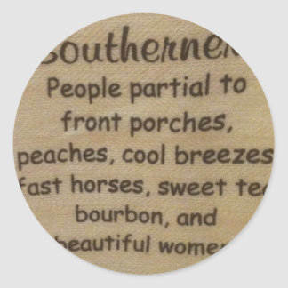 Southern slang classic round sticker