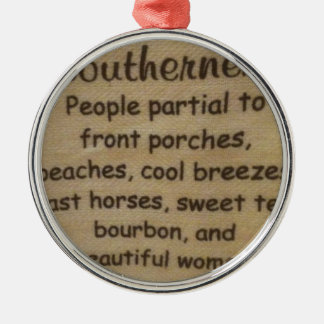 Southern slang metal ornament