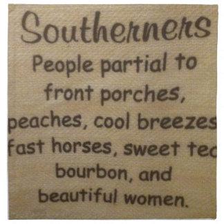 Southern slang napkin