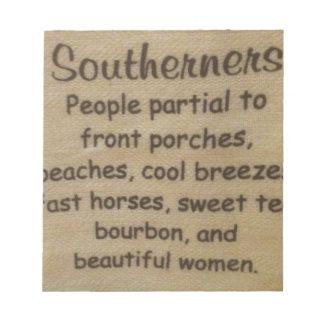 Southern slang notepad