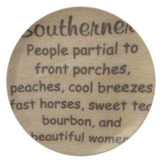 Southern slang plate