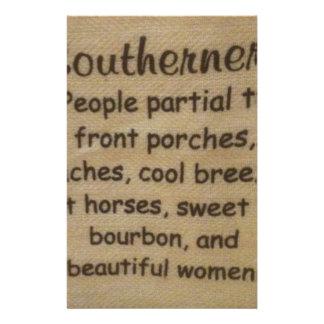 Southern slang stationery