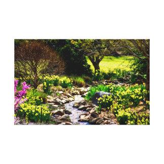 Southern Spring Floral Botanical Garden Canvas Print
