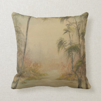 Southern Style Landscape Throw Pillow