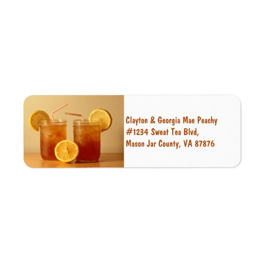 Southern Sweet Tea for Two in Mason Jars Return Address Label