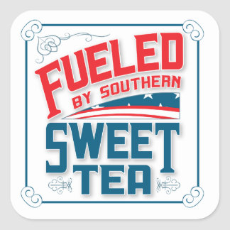 Southern Sweet Tea Square Stickers