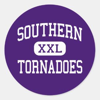 Southern - Tornadoes - High School - Racine Ohio Classic Round Sticker