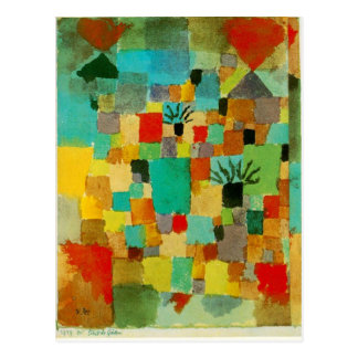 Southern (Tunisian) gardens by Paul Klee Postcard