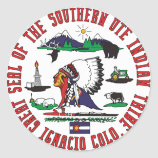 Southern Ute Tribe Classic Round Sticker