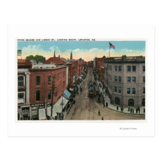 Southern View of Union Square and Lisbon Street Postcard
