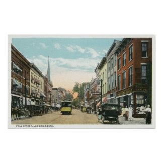 Southern View of Wall Street Poster