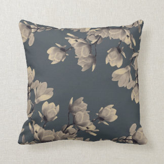 Southern Vintage Magnolias Throw Pillow