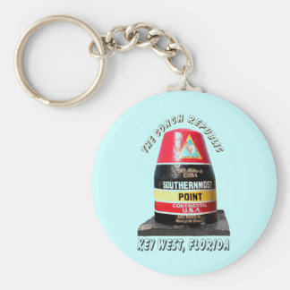 Southernmost Point Basic Round Button Keychain