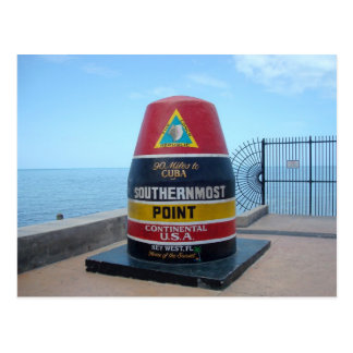 Southernmost Point Buoy Key West Florida Postcard