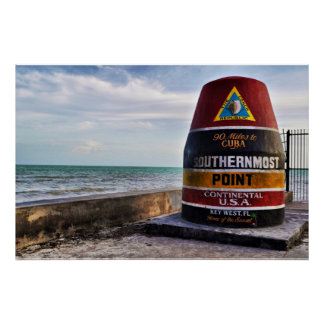 southernmost point key west poster