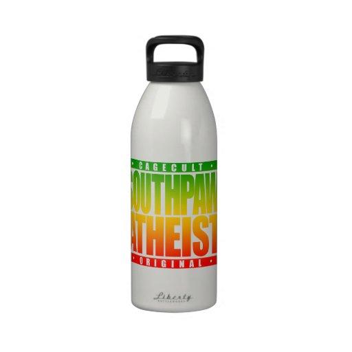 SOUTHPAW ATHEIST: Mixed Martial Arts Boxer, Rasta Reusable Water Bottle