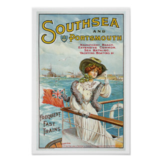 Southsea and Portsmouth Poster