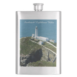 Southstack Lighthouse Wales. Hip Flask