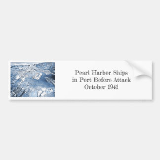 Southward Overhead View Pearl Harbor Bumper Sticker