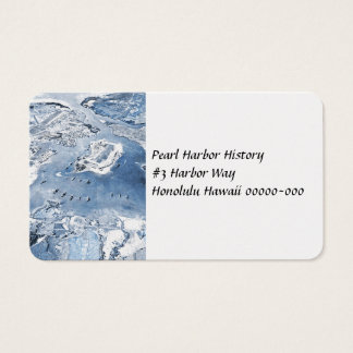 Southward Overhead View Pearl Harbour Business Card