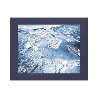 Southward Overhead View Pearl Harbour Canvas Print