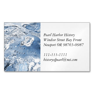 Southward Overhead View Pearl Harbour Magnetic Business Card