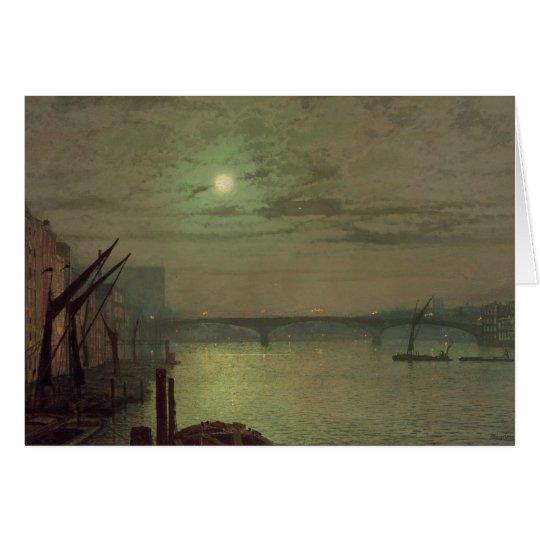 Southwark Bridge, 1882 (oil on canvas) Card