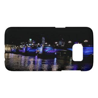 Southwark Bridge, River Thames at Night, London UK Samsung Galaxy S7 Case