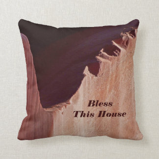 Southwest Abstract Pillow Bless This House Square