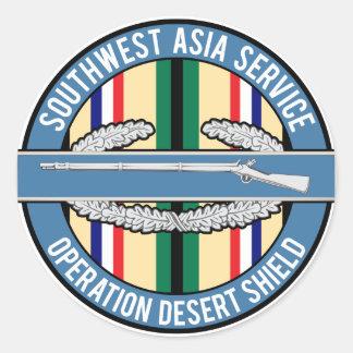 Southwest Asia CIB Classic Round Sticker