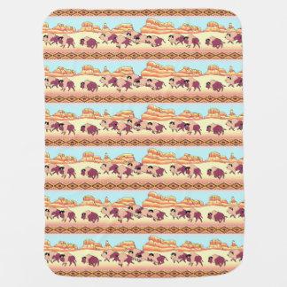 Southwest Buffalo Baby Blanket