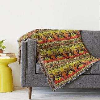 Southwest Cactus  Kokopelli Pattern Throw Blanket