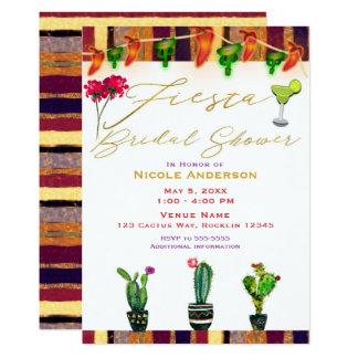 Southwest Cactus Modern Fiesta Bridal Shower Party Card