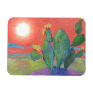 Southwest Cactus Sunset Magnet