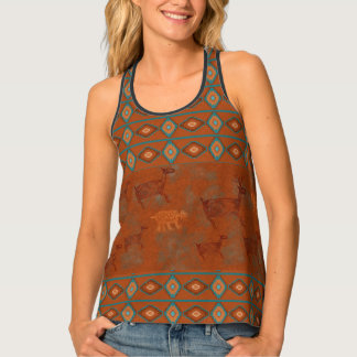 Southwest Canyons Petroglyphs Tank Top