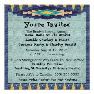 Southwest Charity Gala Cowboy Theme Party - Personalized Invitation