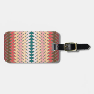 Southwest Chevron Zigzag Custom Luggage Tag