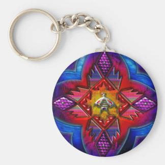 Southwest Circle Art 1 of 4 Keychain