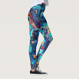Southwest Colors Marbled Abstract Leggings