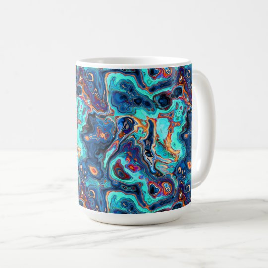 Southwest Colours Marbled Abstract Coffee Mug