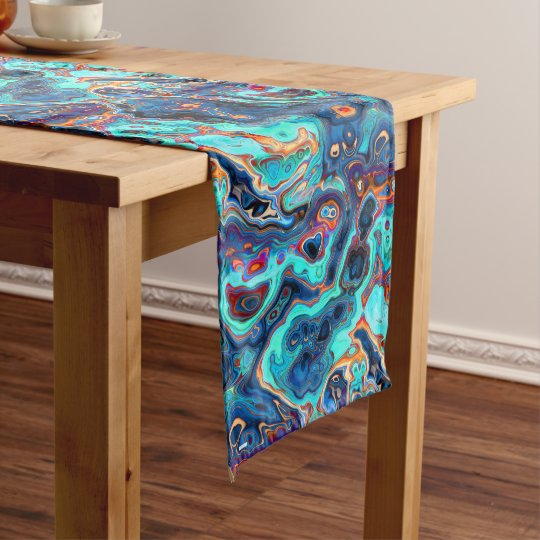 Southwest Colours Marbled Abstract Medium Table Runner