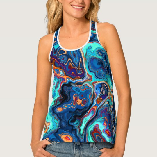 Southwest Colours Marbled Abstract Tank Top
