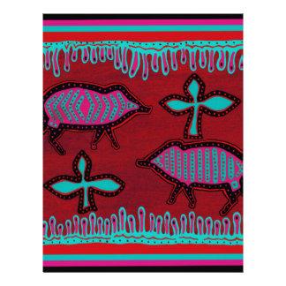 Southwest Desert Animals Customized Letterhead